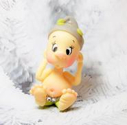 gnome, clay babies, elves, ornaments, cake toppers