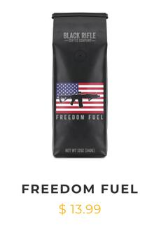 Gotta keep that freedom engine running, and only the best coffee will do! This 100% Arabica roast has a dark and bold flavor, and ranks 8 on our roast scale of 1-10.
