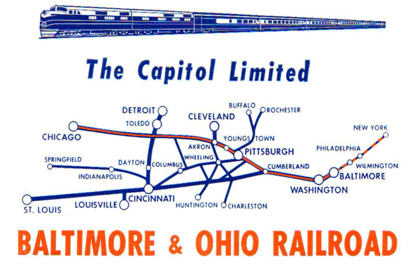 The route of the Capitol Limited.