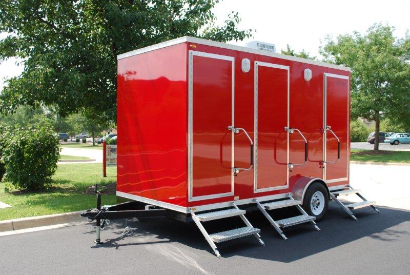 portable restroom trailers - luxury restroom trailers rentals