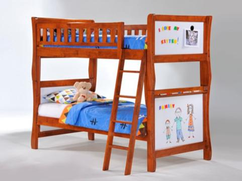 Scribbles Twin Twin Bunk Bed by Night & Day Furniture