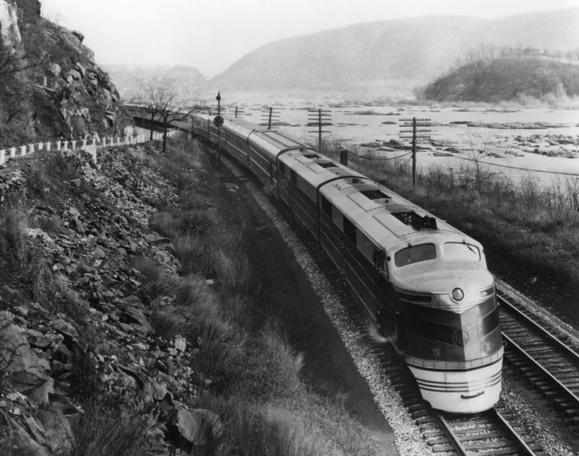 The Capitol Limited, one of the Baltimore and Ohio Railroad's classic trains in the Potomac River valley.