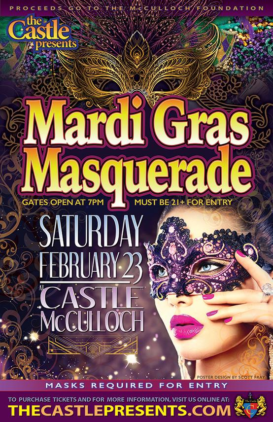 The Castle Presents The 2019 Mardi Gras Masquerade Event Image And Hyperlink