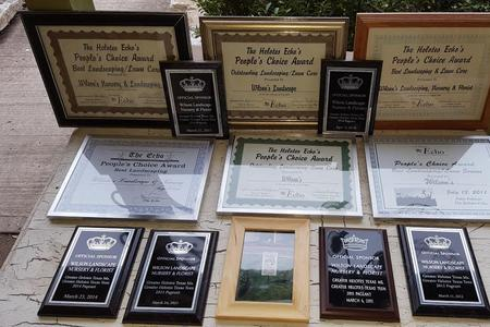 Wilson Landscape nursery and Florist awards for beautification in Helotes, San Antonio and Cross Mountain Ranch