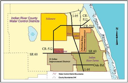 Water Control Districts of Indian River County Map