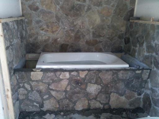 Stone bathtub surround