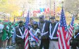 Haitian American Veterans Association Fritz Fils-Aime (r.) , chairman, president and founder of the Haitian American Veterans Association, will be marching in the Veteran's Day Parade in Manhattan on Nov. 11 – and all Caribbean-American military veterans are invited to join the procession.