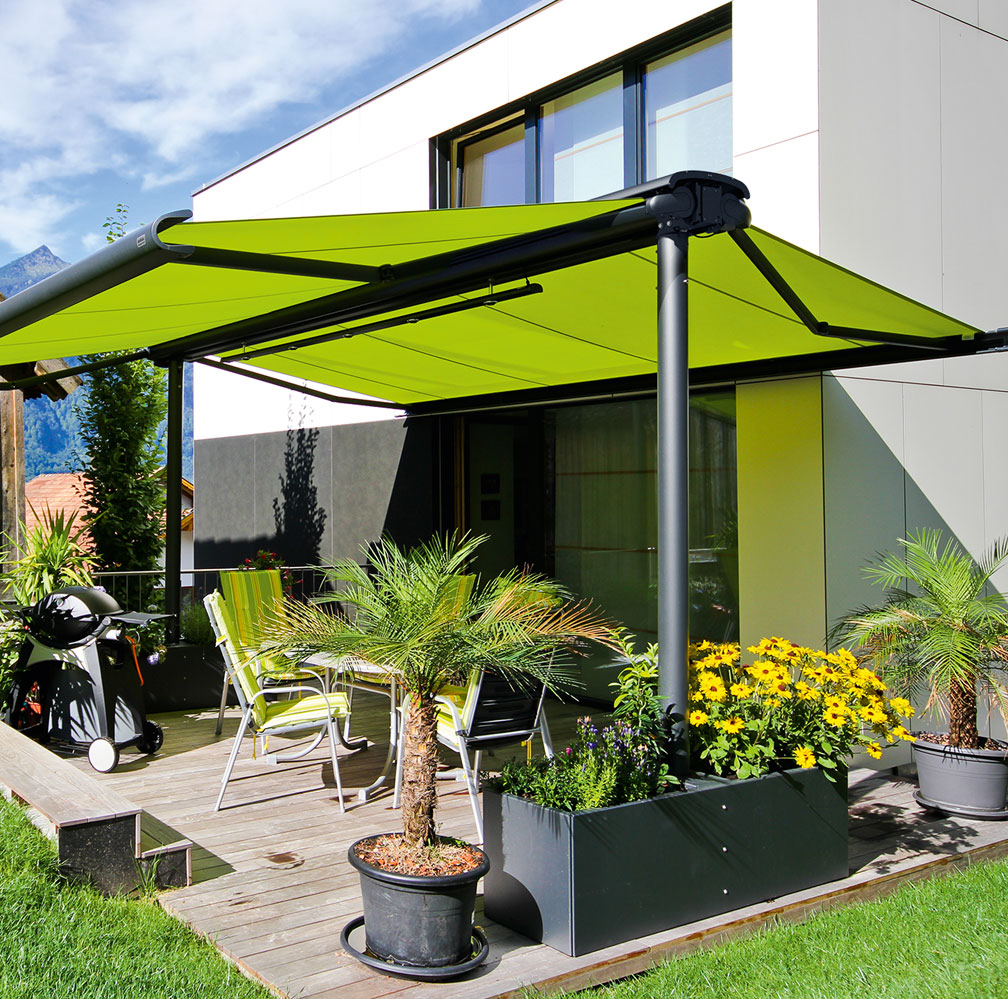Fixed Frame Metal Awnings