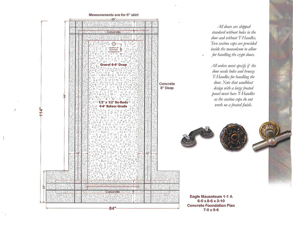 mausoleum foundation plans
