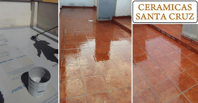 Reforma impermeabilizaci n y alicatado de terraza for Ceramicas para pisos exteriores precios