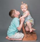 photo by shrinking buffalo productions -sibling photo toddler girl and older brother