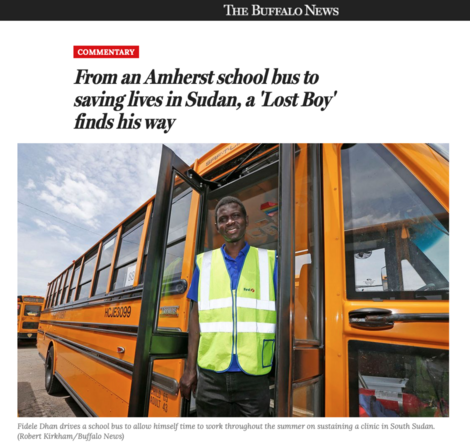 Amherst Lost Boy of Sudan Saving Lives