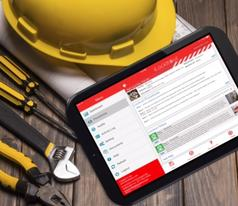 iLockItOut on iPad App and hard hat
