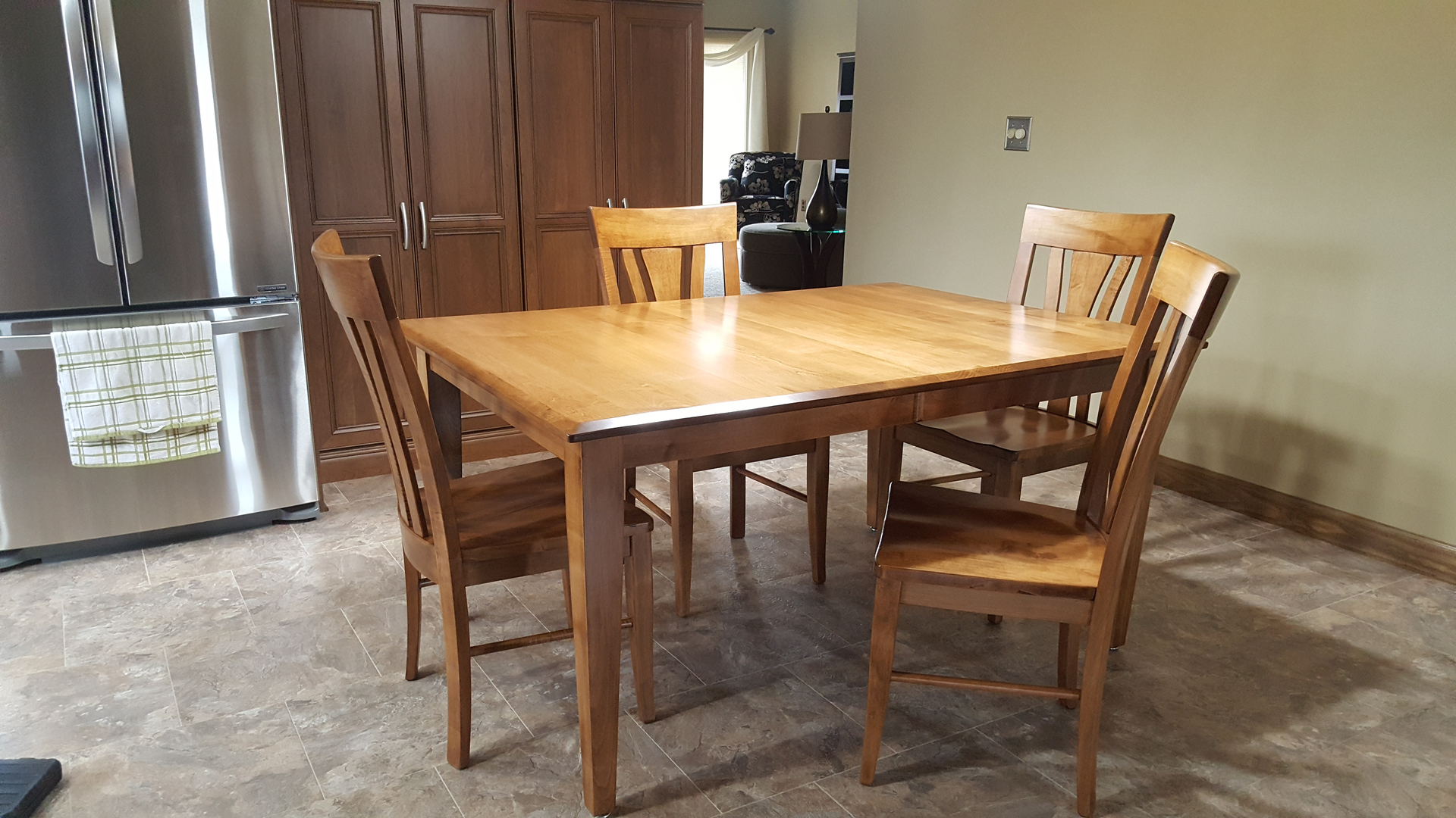 only amish handcrafted hardwood furniture chelsea mi check out this custom natural walnut table with 16 12