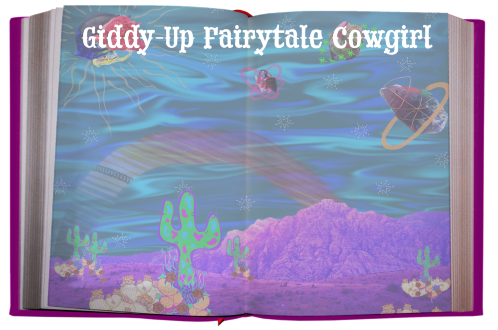 Children's book Giddy-Up Fairytale Cowgirl by Kat Ford, encouraging readers to follow their hearts, conquer their fears, and chase their dreams.