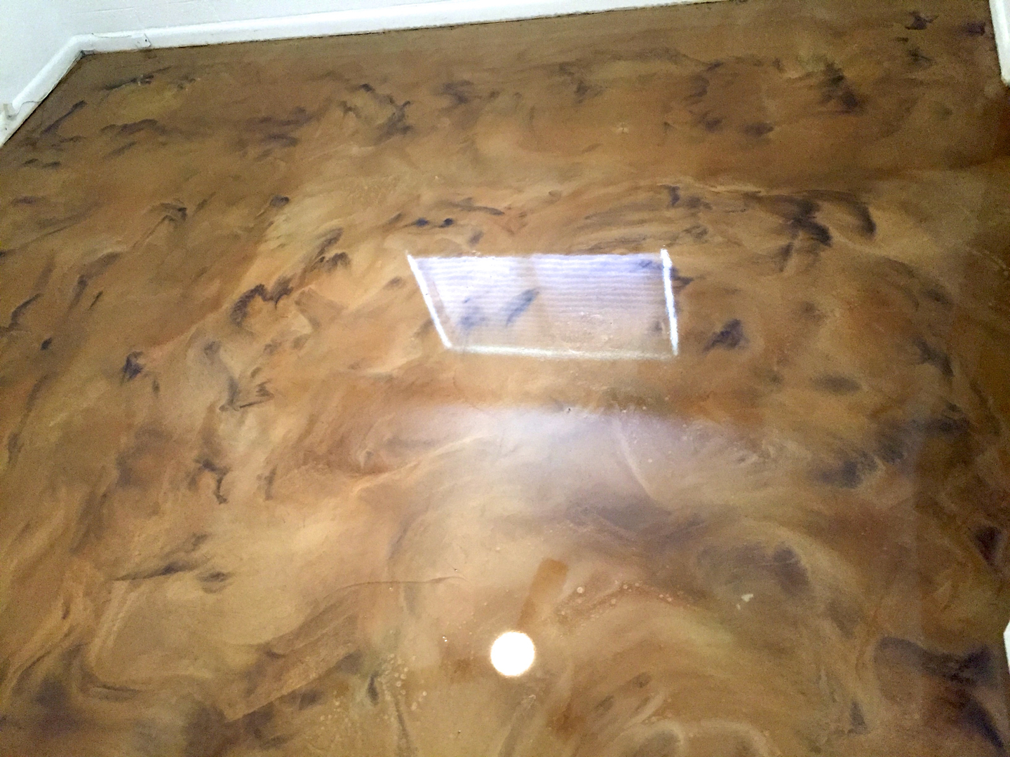 stain decorative concrete acid interior pin stained floored stamped flooring