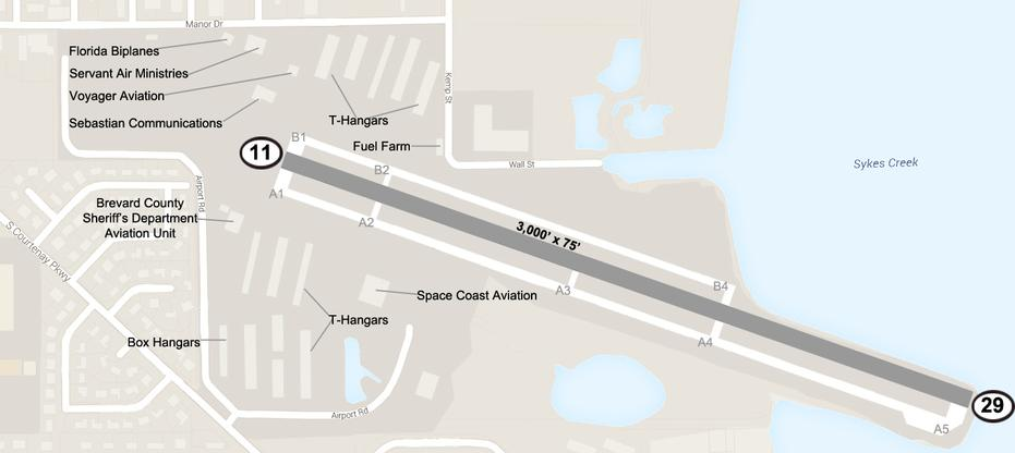 Diagram of Merritt Island Airport