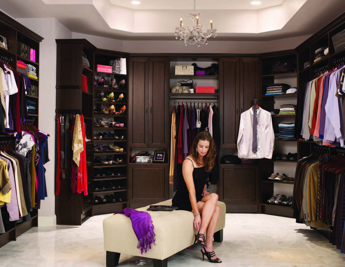Custom Closets Includes Designing And Installing Frame Less