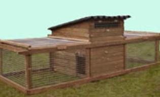 Hintsford chicken coops or broody coop. Available from Chickenfeathers in Shotts.