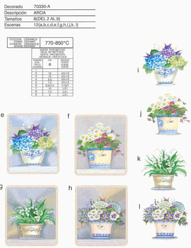 Flowerpot ceramic decals by Calcodecal