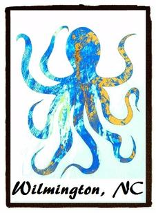 www.nauticdreams.com,www.barryknauff.com, octopus sticker, wilmington nc sticker, ei nc sticker, emerald isle nc sticker, nc sticker, bogue banks nc, nc artist, barry knauff, cape careret nc sticker, emerald isle nc, shark sticker, ei sticker, morehead city sticker, morehead city decal, morehead city blue marlin sticker