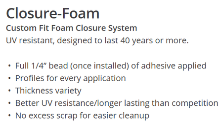 Custom fit closure foam