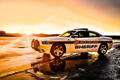 artistic photo of sheriff's car