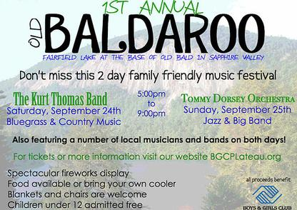 Old Baldaroo Music Festival, Fairfield Lake Sapphire Valley NC