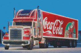 Cross Stitch Chart Pattern of Coca Cola Freightliner