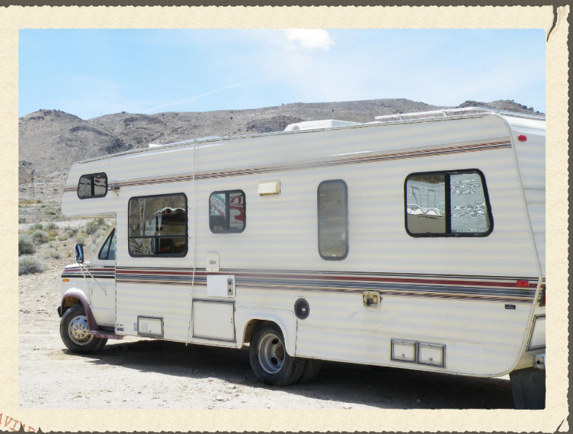 What terms are included in a motor home rental agreement?