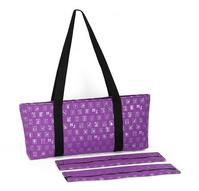 PURPLE W/SILVER METALLIC TILES CARRYING CASE WITH VELCRO WRAPS