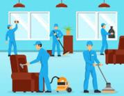 Janitorial cleaning tasks