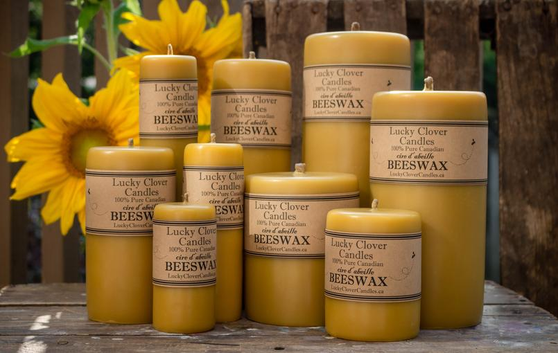 pure canadian beeswax candles hand made in ontario, Lucky Clover Candles, Hand made, Beeswax Candles Canada