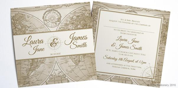 For The Adventurous Bride Groom This Vintage World Map Wedding Invitation Suite Would Be Prefect