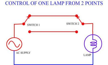 One lamp from two points Og Lighting Control Wiring Diagram on