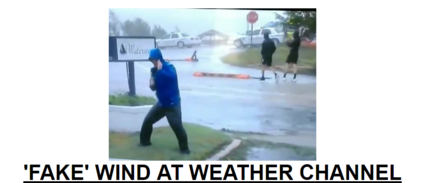 weather channel Hurricane Florence made landfall in North Carolina on Friday, bringing a real, dangerous threat to millions in its path. However, one moment caught on live TV