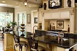 Upscale kitchen for entertaining
