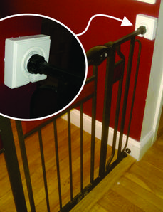 Easy Diy Child Safety Gates Secure Mounting Brackets