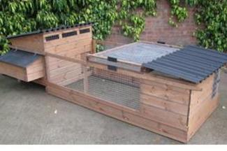 Chicken coops for sale at Chickenfeathers in Shotts, Scotland