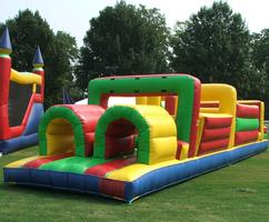 Inflatable Games-Obstacle Course-Moon Bounce at a Nashville Company Picnic