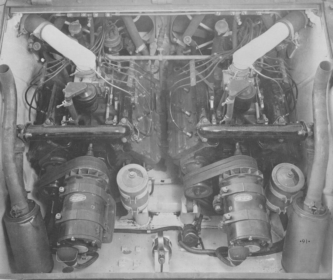 Cadillac Flathead V8 Engine Data Diagram No Provision Of Any Kind For The Fuel Pump M24 Has Electric In Tank Pumps As On 1g Or Civilian