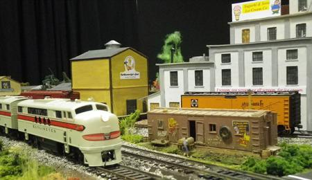 A scene from our modular HO layout