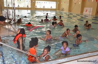 Picture of Kids Swimming in the YMCA Pool