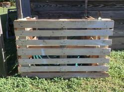 Colby's Army photo of a sustainable pallet container for garden hoses