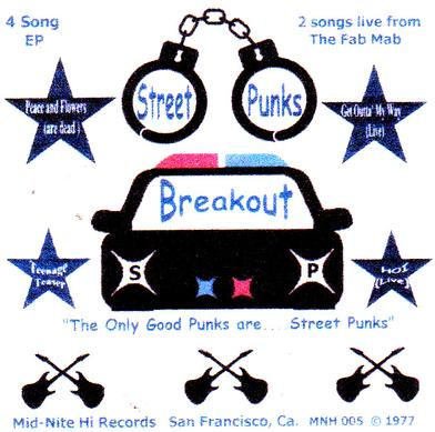 Street Punks Band, second record release. 4 songs, 2 live from The Fab Mab