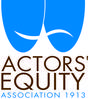 Image of Actors' Equity Logo with two blue theatre masks