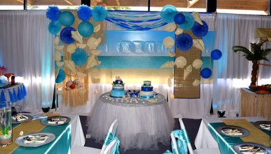 Beach theme Cake table
