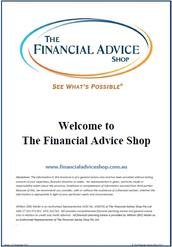 Welcome To The Financial Advice Shop Booklet