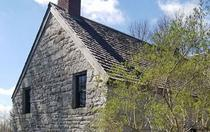 Fort Klock, historic fortified home to the Klock family. Located in western New York colony, 1750.