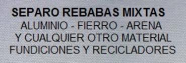 Separacion De Fierro Y Metales No Ferrosos Pet Plastico Arena Vidrio Madera